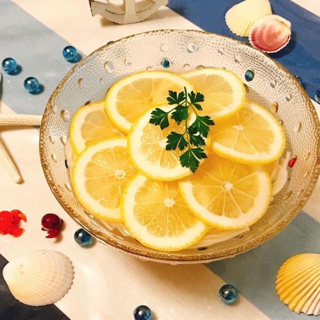 爽やか!レモンのサッパリ冷麦