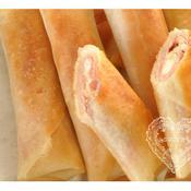 生ハムとクリームチーズの春巻き