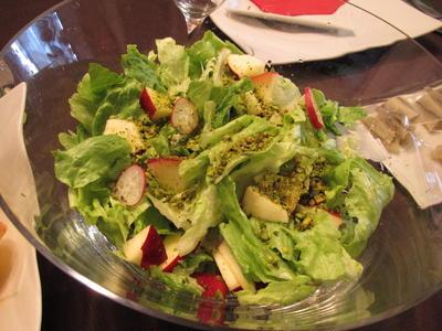紅玉りんごとグリーンピスタチオのサラダ