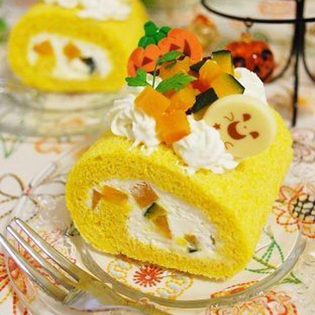 Halloween☆かぼちゃのロールケーキ