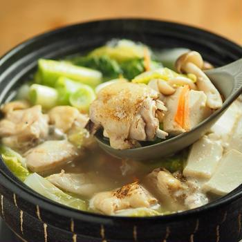 レシピブログ連載、炙り鶏の水炊き