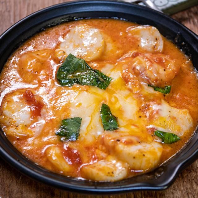 ピザの美味しいところ取り「ホタテのチーズトマトソース焼き」&「GW最後の夜はやっぱり市場のお惣菜」