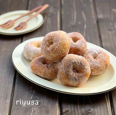【揚げ時間2分】フライパンで作れる簡単ドーナツ