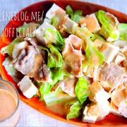 ♡レンジde4分♡冷しゃぶ豆腐の温サラダ♡【#簡単#時短#節約#ヘルシー】