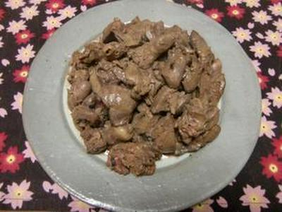 鶏レバーの胡麻風味炒め