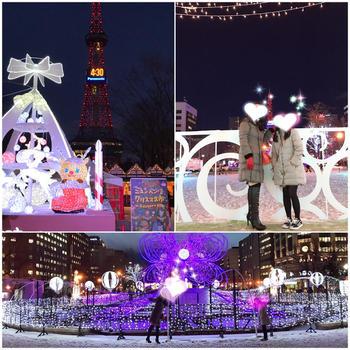 大通り公園のイルミネーションin札幌