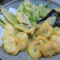 ハモと夏野菜の天ぷら