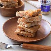 鶏ひき肉と海老のガーリック豆腐のし焼き