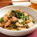 鶏むね肉とにらのオイスター黒酢炒め、さっぱりした風味と旨味がいい!