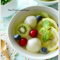 フルーツ酢で作る夏にオススメなフルーツ酢白玉
