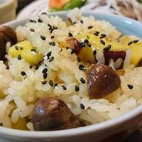 さつま芋と甘栗の炊き込みご飯。