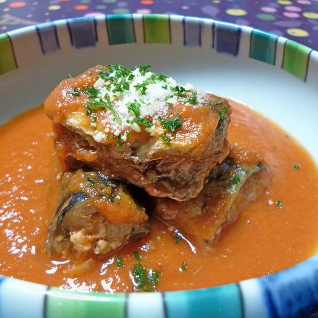 骨まで食べられる 秋刀魚のトマト煮