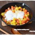 【チリパウダー】家バル!スキレットで作る「コロコロ野菜のスパニッシュジャーマンポテト」