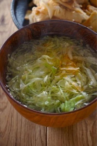 ミニレシピ シャキシャキレタスの即席スープ