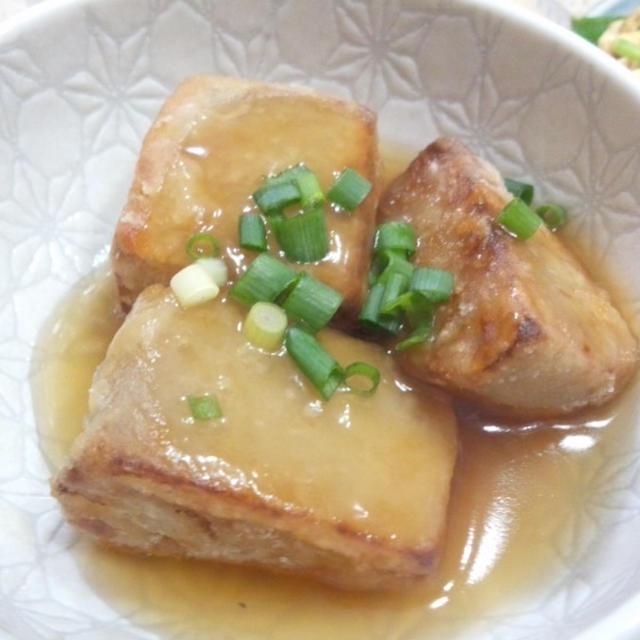 煮物をアレンジ!八つ頭(里芋)煮物の揚げだし風あんかけ(レシピ付)