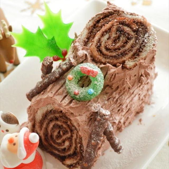 食パンで簡単!チョコロールサンドのブッシュ・ド・ノエル ☆