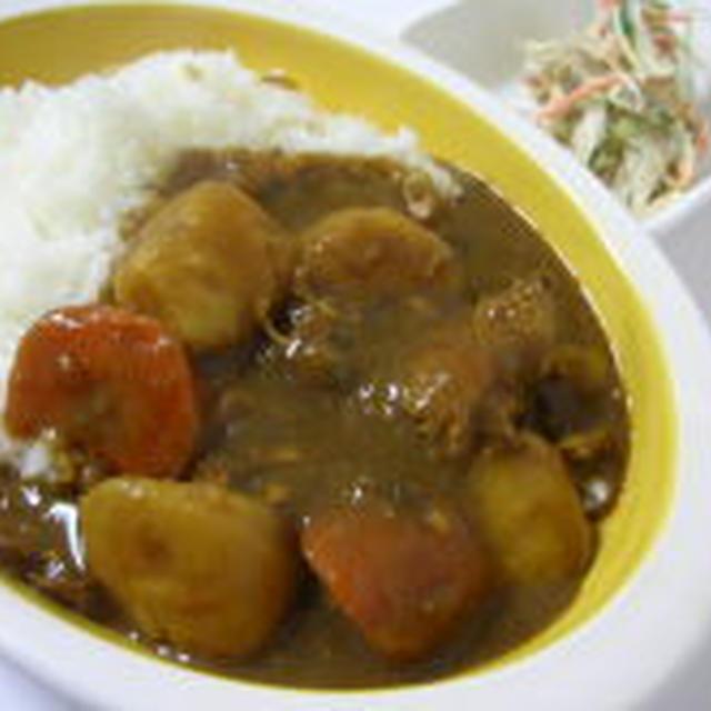 (2/11)野菜ゴロゴロチキンカレー・ごぼうサラダ