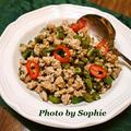 インゲン豆と豚挽肉の中華炒めのレシピ