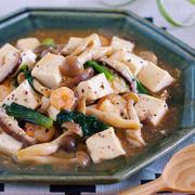 フライパンで10分♪旨味ましまし♪『シーフードと豆腐のうま塩あんかけ』