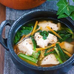 ダイエットにも節約にも!「鶏むね肉のスープ」を作ろう