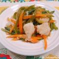 白身魚(パンガシウス)と野菜のポン酢生姜炒め