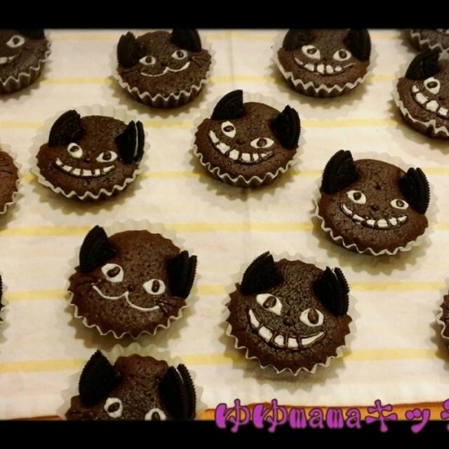 チョコたっぷり~♪ハロウィンにピッタリ黒猫マドレーヌ