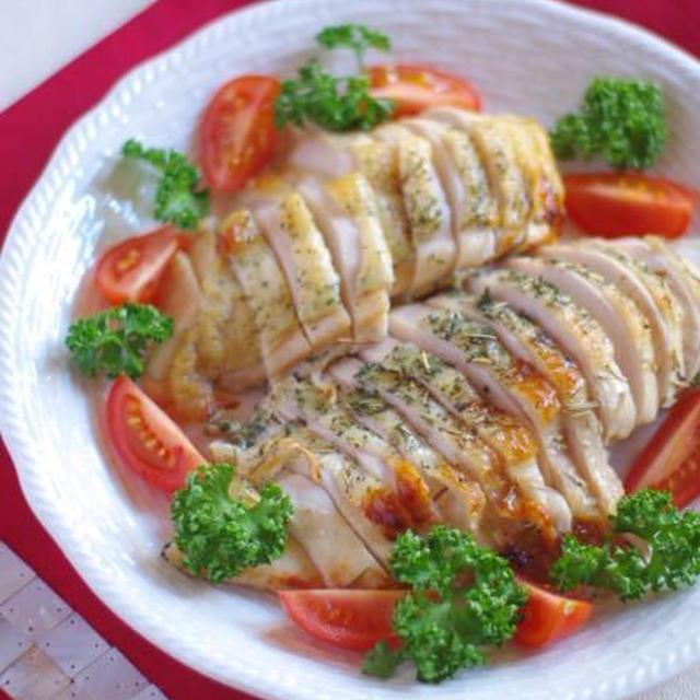 クリスマスにオススメ!鶏むね肉しっとり♡ハーブグリル。ついに、肥満度が。。