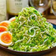 【レシピ】春キャベツとしらすの湯通しサラダ