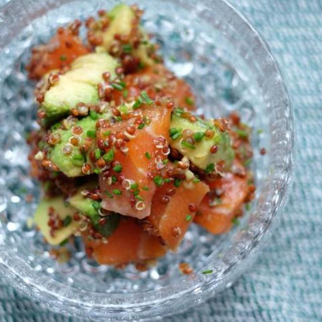 【cooking】Salmon, avocado & quinua salad