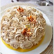 モカバターフラワーケーキ