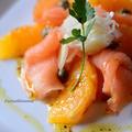 サーモンとオレンジの春カルパッッチョ