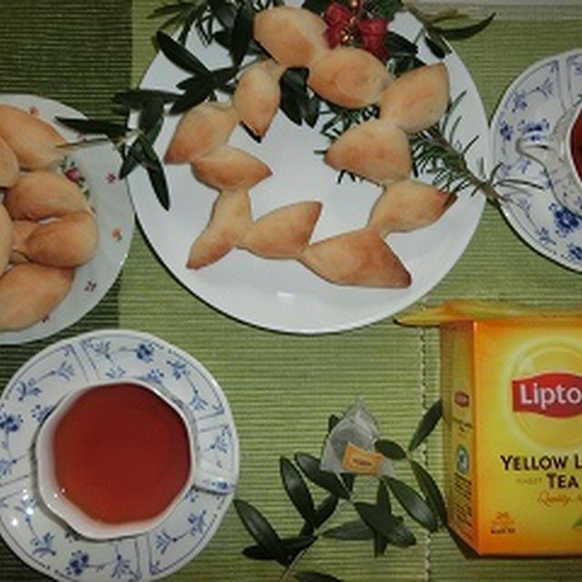 クリスマスリースパン&リプトン紅茶!!