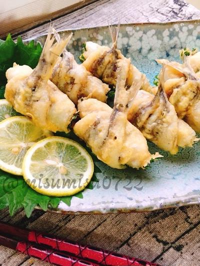にぎすのシソ巻き天ぷら