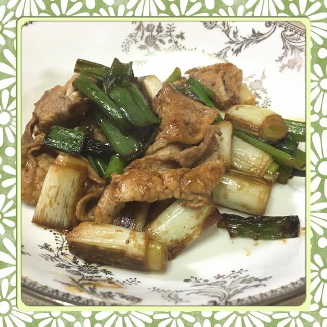 長ねぎたっぷり!豚肉と長ねぎの簡単めんつゆ炒め(レシピ付)