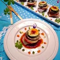 夏野菜8層チーズタワー☆食べるラー油風味!!
