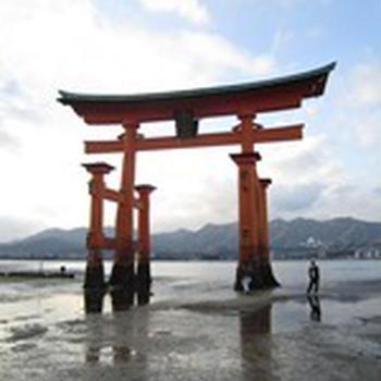 広島・宮島へ日帰り旅行 その8(干潮時の厳島神社)