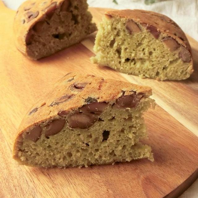 炊飯器で簡単★甘栗の青汁ケーキ