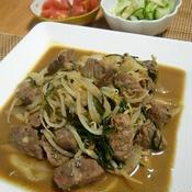 野菜たっぷり! ☆サイコロステーキの中華風 五香粉炒め☆