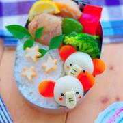 冷凍里芋で作るゾウさんのキャラ弁