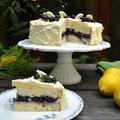 White Cake with Lemon and Blueberries レモンとブルーベリーのホワイトケーキ