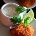 Panko Fried Catfish with Jalapeno Cilantro Dip魚フライとハラペーニョ香菜ディップ