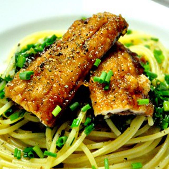 秋刀魚の蒲焼きパスタ