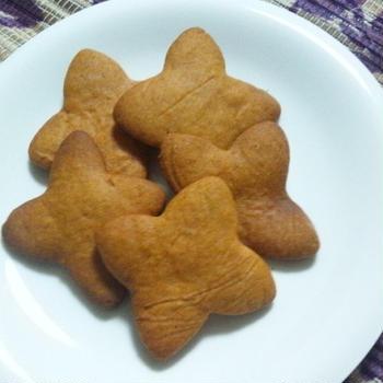 卵&バターなし♪スプーン1本で簡単きな粉クッキー☆