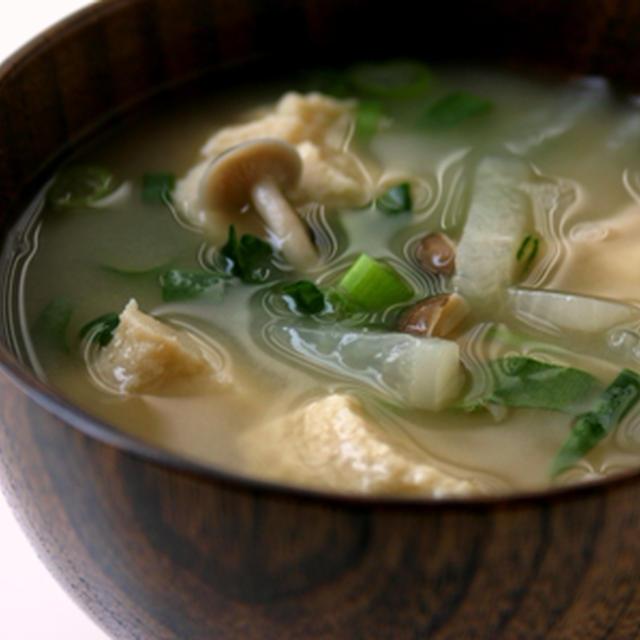 くずし高野豆腐の味噌汁