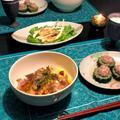 豚肉と新玉ねぎの卵とじ丼&ゴーヤの肉詰め煮 by shoko♪さん