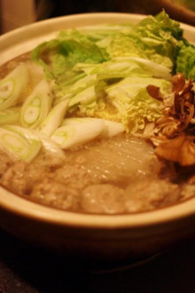 MERYで掲載!「合い挽き団子の塩鍋」