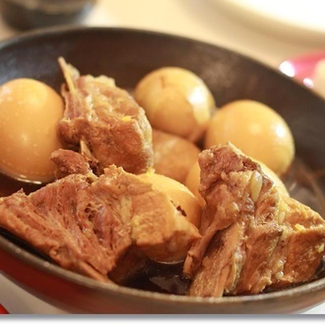 牡蠣醤油で♪スペアリブと卵の煮込み☆レシピ掲載☆