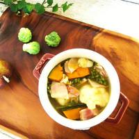 かぼちゃ・ブロッコリー・カリフラワーのスープ