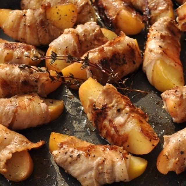 豚肉の林檎巻き ケチャップマスタードソース