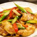 【韓国料理】春野菜で!「鶏むね肉とアスパラのコチュジャン炒め」&春キャベツのナムル風サラダで晩ごはん。 by きちりーもんじゃさん